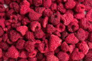 Freeze dried whole raspberries