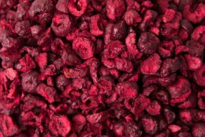 Freeze dried sour cherries slices